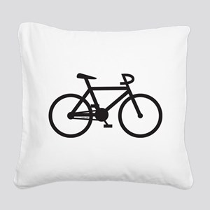Klaar Bike Square Canvas Pillow