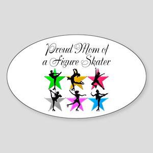 SKATING QUEEN MOM Sticker (Oval)