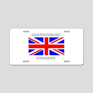 Glastonbury England Aluminum License Plate