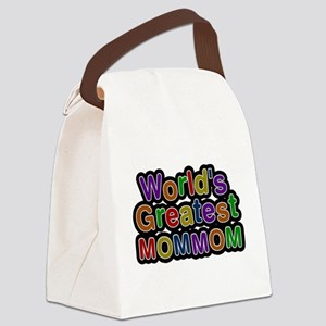 Worlds Greatest Mommom Canvas Lunch Bag