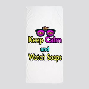 Crown Sunglasses Keep Calm And Watch Soaps Beach T