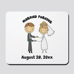 Personalized Bride and Groom Mousepad