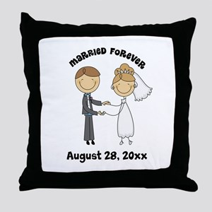 Personalized Bride and Groom Throw Pillow