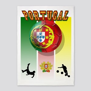Portugal Football Soccer 5'x7'Area Rug