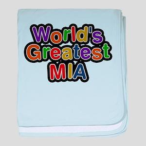 Worlds Greatest Mia baby blanket