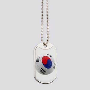 South Korea world cup soccer ball Dog Tags