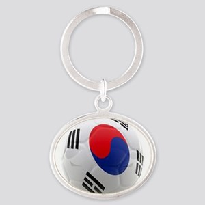 South Korea world cup soccer ball Oval Keychain