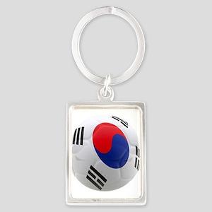 South Korea world cup soccer ball Portrait Keychai