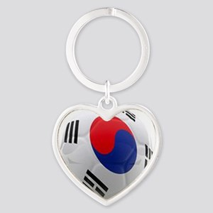 South Korea world cup soccer ball Heart Keychain
