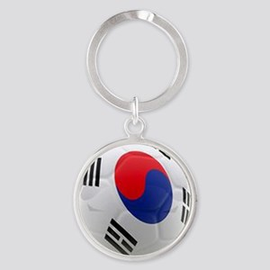South Korea world cup soccer ball Round Keychain