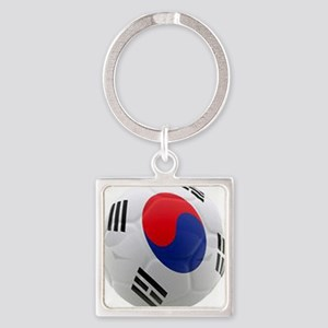 South Korea world cup soccer ball Square Keychain