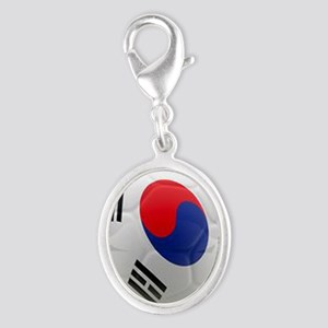 South Korea world cup soccer ball Silver Oval Char