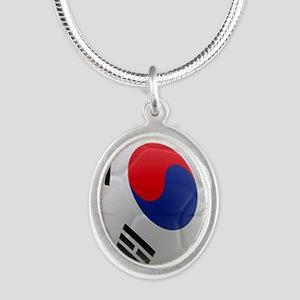 South Korea world cup soccer ball Silver Oval Neck