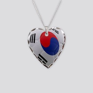 South Korea world cup soccer ball Necklace Heart C