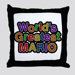 Worlds Greatest Mario Throw Pillow