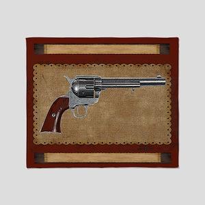 Wild West Pistol 3 B Throw Blanket