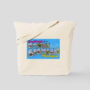 Sault Ste Marie Michigan Tote Bag