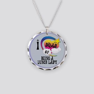 I Dream of Being A Lunch Lad Necklace Circle Charm