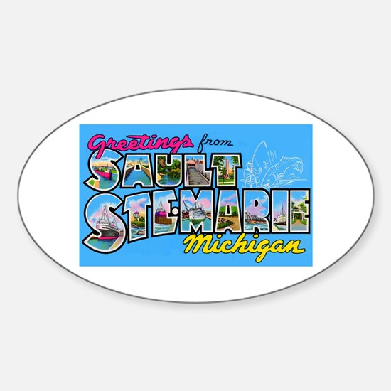 Sault Ste Marie Michigan Oval Decal