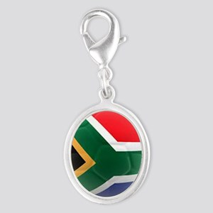 South Africa world cup soccer ball Silver Oval Cha