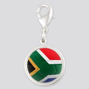 South Africa world cup soccer ball Silver Round Ch