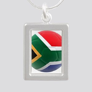 South Africa world cup soccer ball Silver Portrait