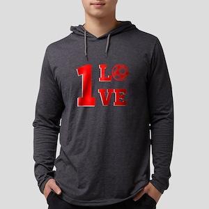 1 Love Mens Hooded Shirt