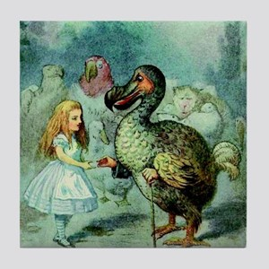 Alice in Wonderland with the Dodo col Tile Coaster