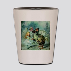 Alice in Wonderland with the Dodo color Shot Glass