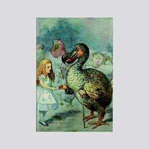 Alice in Wonderland with the Dodo Rectangle Magnet