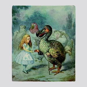 Alice in Wonderland with the Dodo co Throw Blanket