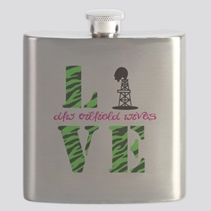 Oilfield Love Zebra Flask