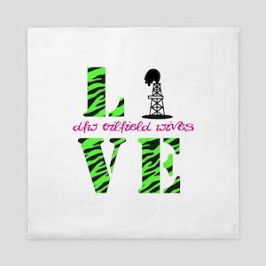 Oilfield Love Zebra Queen Duvet