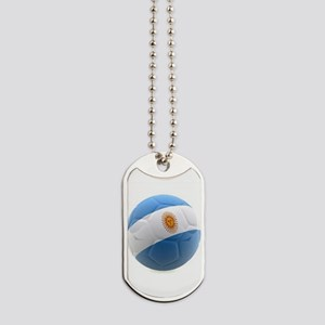 Argentina world cup soccer ball Dog Tags