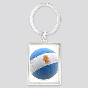 Argentina world cup soccer ball Portrait Keychain