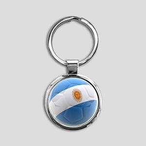Argentina world cup soccer ball Round Keychain