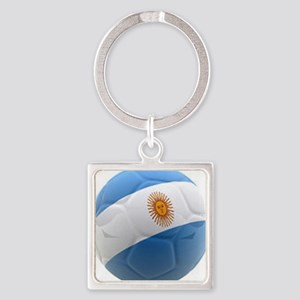 Argentina world cup soccer ball Square Keychain