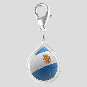 Argentina world cup soccer ball Silver Teardrop Ch