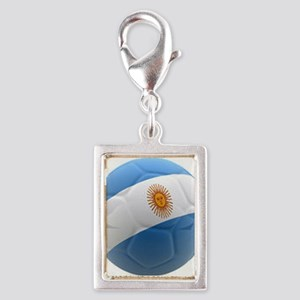 Argentina world cup soccer ball Silver Portrait Ch