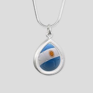 Argentina world cup soccer ball Silver Teardrop Ne