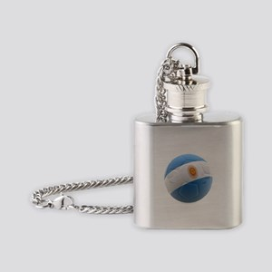 Argentina world cup soccer ball Flask Necklace