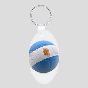 Argentina world cup soccer ball Aluminum Oval Keyc