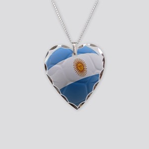 Argentina world cup soccer ball Necklace Heart Cha