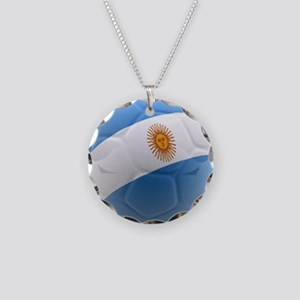 Argentina world cup soccer ball Necklace Circle Ch
