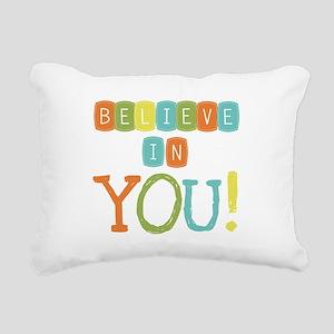 Believe in YOU Rectangular Canvas Pillow