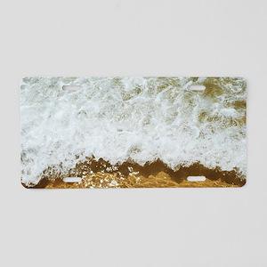 Sparkling ocean Aluminum License Plate