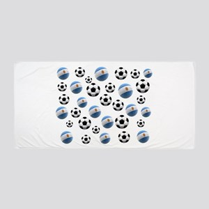 Argentina world cup soccer balls Beach Towel