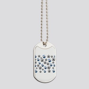 Argentina world cup soccer balls Dog Tags