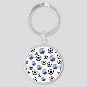 Argentina world cup soccer balls Round Keychain