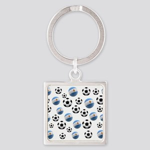 Argentina world cup soccer balls Square Keychain